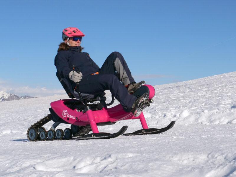 E-trace, le premier vélo luge électrique des neiges