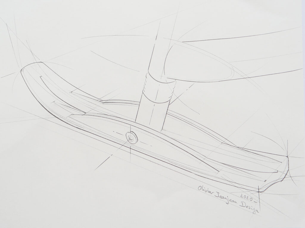 E-trace snow bike conception and design