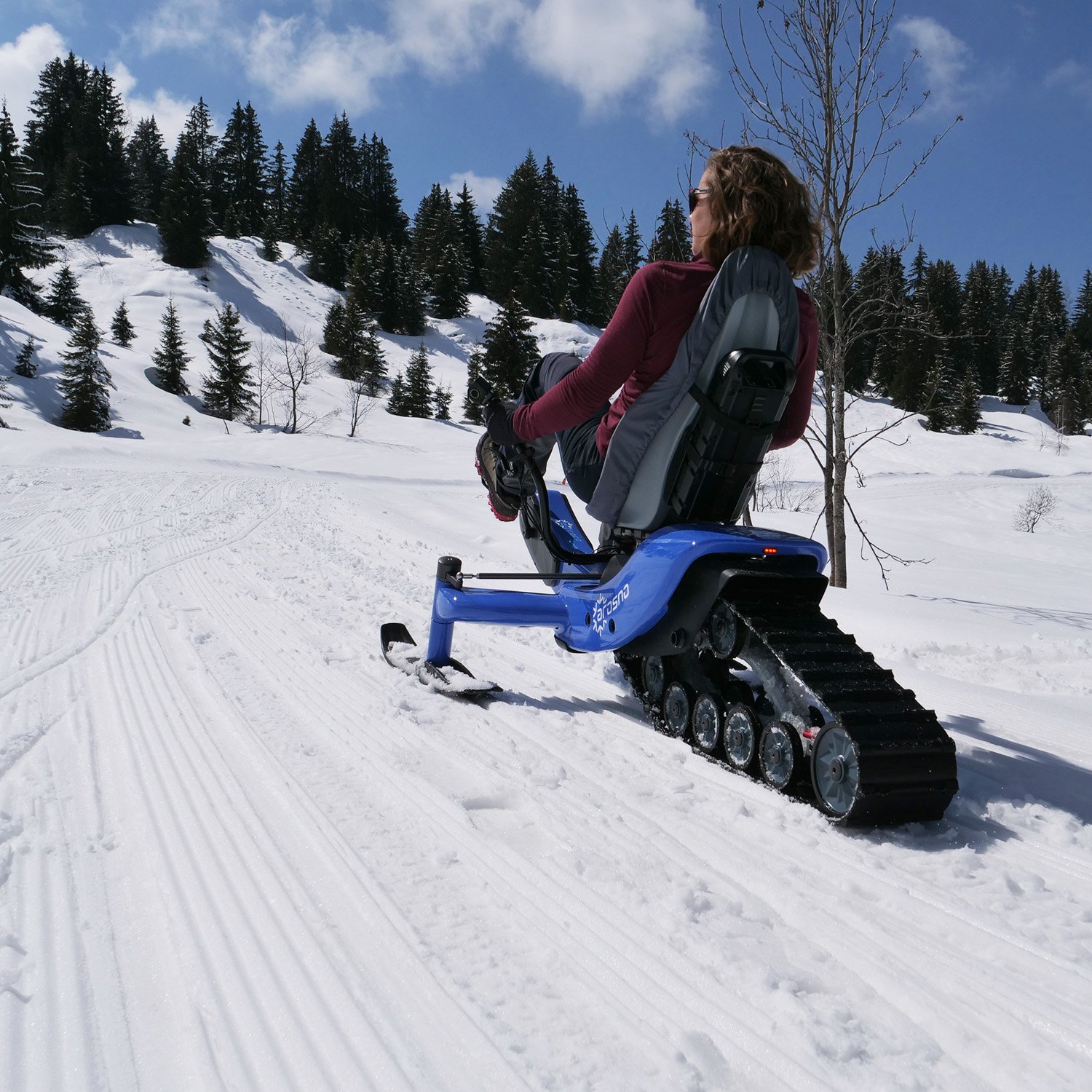 E-trace, the first electric snow bike