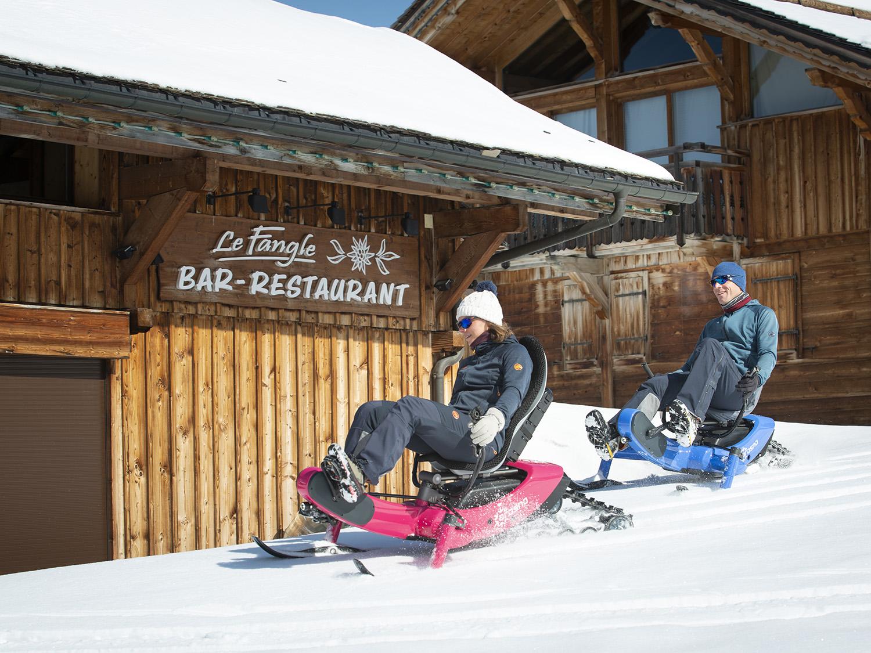 E-trace, the first e-snowbike in the world